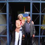 Christiane und Hausmeister Vilis