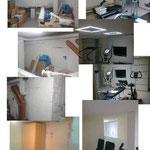 Umbau eines Kellerraums in einen Fitnessraum