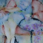 Kaffeetasse (lila Orchideen)