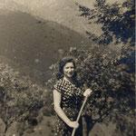 Carla Santi, ostetrica condotta in Valle Brembana (archivio A, Santi)