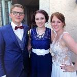 Hochzeitssängerin Juli mit Brautpaar Silke und Matthias