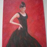 Flamenco-Tänzerin von vorne