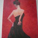 Flamenco-Tänzerin von hinten