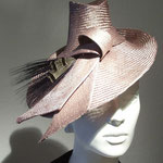 Model Dita,  New Look style Hat made from Parasisolstraw in caramel