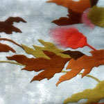 ねむの木の名古屋帯。箸尾百亭作。