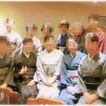 神戸「東光」にて森田空美着付け教室の忘年会。ドレスコードはカジュアルきものに合わせたみなさんの装いです。