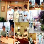 神戸と堺の教室の皆さんが集まって、国家技能検定の合格祝いをしました。みなさん着物姿が素敵です。