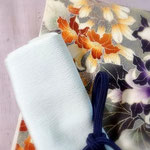 森田空美流の出張着付けレッスンの装いです。藤色の無地紬に、桐の花を描いた染め帯。どちらも浦野理一作。