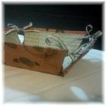 フルーツ柄折りたたみ式トレイ#123/カルトナージュ/作り方©Atelier Z=Grace