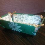 折りたたみ式トレイ/カルトナージュの作り方/完成