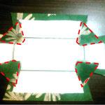 折りたたみ式トレイ/カルトナージュの作り方/手順_06-1