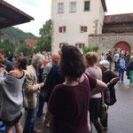 Die Eröffnung im Schlosshof