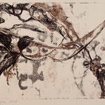 RANKLAUB II // Monotypie // Druckplatte 25 x 44cm // mit Passepartout 50 x 70cm // erhältlich in der Galerie art+form Dresden
