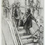 Auf der Rolltreppe // 20 x 50cm