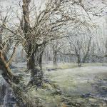 Weiden am Ufer // 100 x 70cm // verkauft
