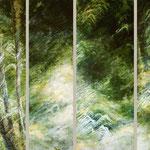 lichtes Rauschen // vier Teile // insgesamt 230 x 170cm