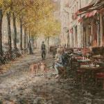 Brunch im Herbstsonnenschein // München-Haidhausen // 70 x 80 cm // verkauft