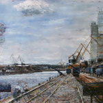 Hafenlandschaft // Nürnberg // 100 x 140cm // verkauft