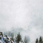 Schnee im Nebel 1 // Berchtesgadener Alpen // 80 x 70cm // verkauft