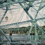Blick aufs Wasser // Blaues Wunder Dresden // 85 x 120cm // verkauft
