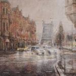 Ein Regentag am Schillerplatz // Dresden // 85 x 100cm
