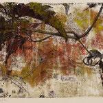 RANKLAUB I // Monotypie // Druckplatte 25 x 44cm // mit Passepartout 50 x 70cm // erhältlich in der Galerie art+form Dresden