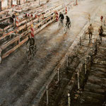 Straße zwischen Licht und Schatten // 100 x 140cm // verkauft