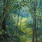 Waldpfad ins Blaue // 140 x 100cm // Auftragswerk