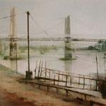 Rhône-Brücken im Gegenlicht // 145 x 90cm // verkauft