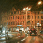 Schillerplatz bei Nacht // Dresden // 80 x 100cm // verkauft