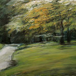 Joggen im Park I // vierteilige Serie // 70 x 50cm // verkauft