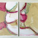 Pantoffelstudien I a+b | Dyptichon - MT a. Papier | 2x 30x40 cm | 2011