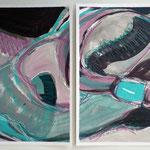 Pantoffelstudien III a+b | MT a. Papier | 2x 30x40 cm | 2011 • b in Privatbesitz