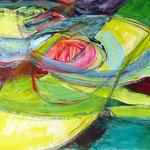 Pantoffelkino_vorfilm | Acryl, Graphit und Pastell auf Pappe | 2011