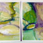 Pantoffelstudien II a+b | MT a. Papier | 2x 30x40 cm | 2011 • b in Privatbesitz