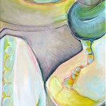 Pantoffelkino IV | Acryl und Ölkreide auf Leinwand | 40x120 cm | 2011