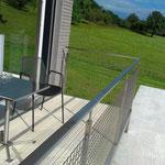 Geländer mit Draht Gitter Chromstahl 1