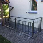 Treppenabgang Geländer