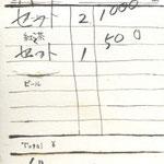 喫茶さぼうる 伝票 表 2011