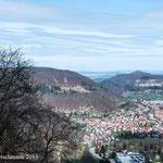Blick vom Schloss Lichtenstein