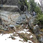 Passaggio sotto il Pian da Prestenüca (1892 m)