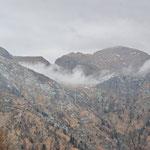 La Bocchetta d'Albagno avvolta dalla nebbia