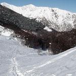 Monte Tamaro durante la discesa