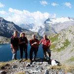 Adri, Luciano, Daria e io vicino al Lago Nero