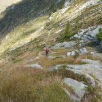 Riprendiamo il sentiero per l'Alpe Fümègna