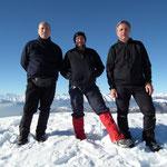 Luciano, Chico e io sul Monte Magno 1636 m