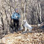 Ilario e Penni sul sentiero Lumino - Vatiscio