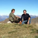Flavio e io sul Monte Gradiccioli 1936 m