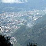 Verso Bellinzona dal sentiero per Domas