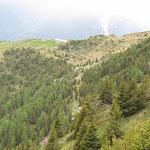 Capanna Brogoldone dal sentiero per l'acquedotto